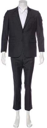 Givenchy Tonal Houndstooth Wool Suit
