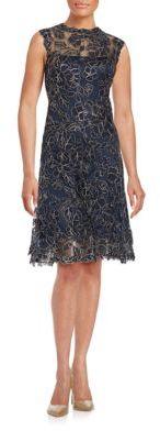 Tadashi Shoji Lace Sleeveless Dress $479 thestylecure.com