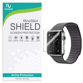 clear RinoGear [6-PACK] Apple Watch 42mm (Series 1, 2, 3) Screen Protector [Active Protection] Sport Flexible HD Crystal Anti-Bubble Film