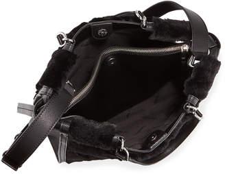 Iconic American Designer Faux-Fur Satchel Bag 69e1622413
