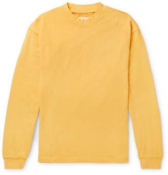 Noon Goons Cotton-Jersey Mock-Neck T-Shirt - Yellow