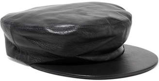 CLYDE Action Leather Cap - Black