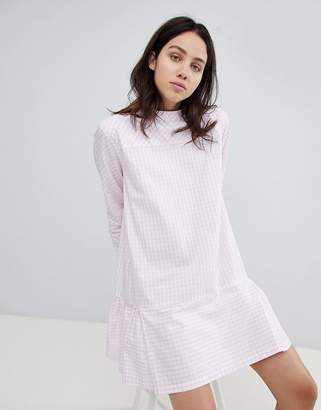 Mads Norgaard Drop Waist Gingham Dress