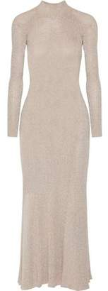 Cédric Charlier Open-Back Knitted Maxi Dress