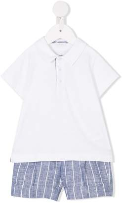 Il Gufo polo top and shorts set