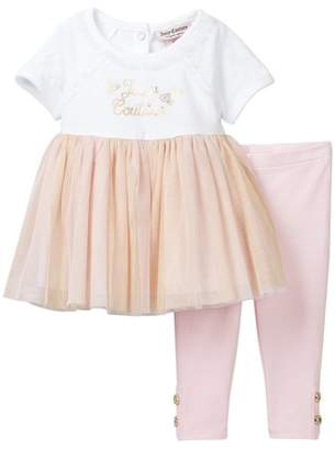 Juicy Couture Butterfly Tunic & Legging Set (Baby Girls 3-9M)