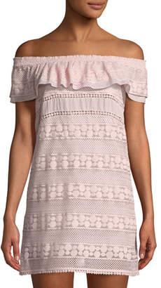 Kisuii Ania Off-the-Shoulder Lace Coverup Tunic