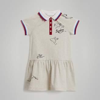 Burberry Stretch Cotton Polo Dress , Size: 8Y