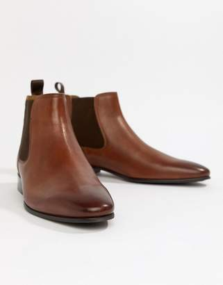 Aldo Chenadien chelsea boots in tan leather