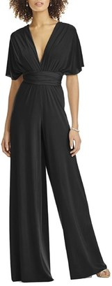 Dessy Collection Convertible Wide Leg Jersey Jumpsuit $180 thestylecure.com