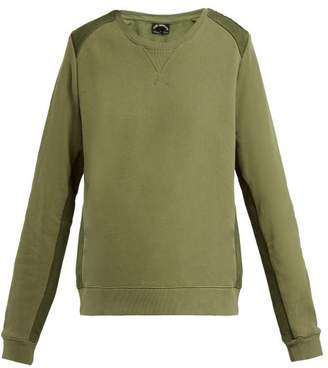 The Upside Twill Panelled Cotton Sweatshirt - Womens - Khaki