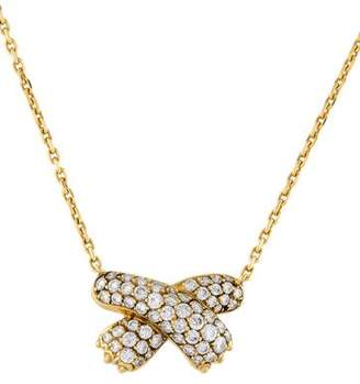 Fred of Paris 18K Diamond Paw Pendant Necklace
