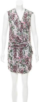IRO Ruched Abstract Print Dress