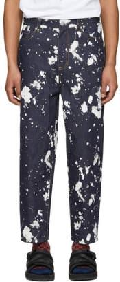 3.1 Phillip Lim Indigo Paint Splatter Jeans