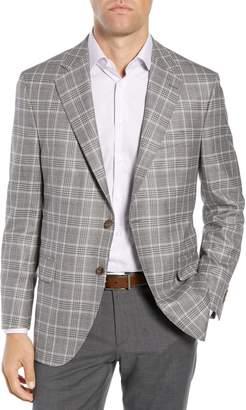 Peter Millar Hyperlight Classic Fit Plaid Wool Sport Coat