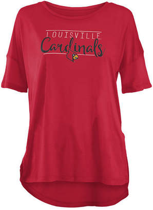 Royce Apparel Inc Women's Louisville Cardinals Hip Script Modal Crew T-Shirt