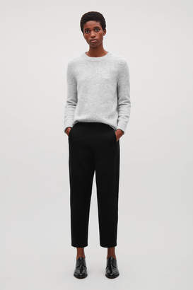 Cos CROPPED JERSEY TROUSERS