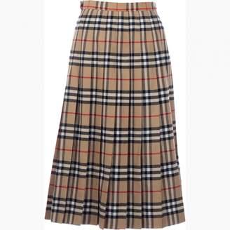 Burberry Brown Wool Skirts