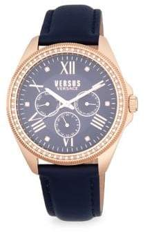 Versace Elmont Stainless Steel Embellished Strap Watch