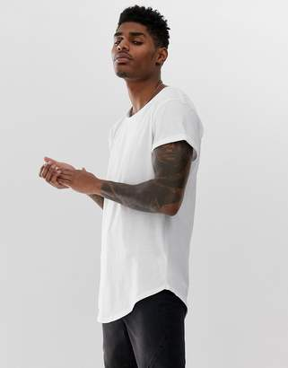 G Star G-Star Vontoni long line t-shirt in white