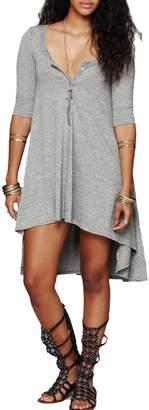 Urban CoCo Women's Half Sleeve High Low Loose T-shirt Tunic Top Dress (S, )