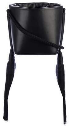 MS MIN Tassel-Accented Bucket Bag