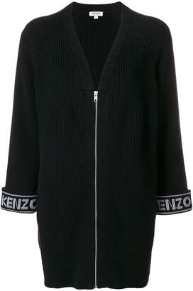 Kenzo logo print cardigan