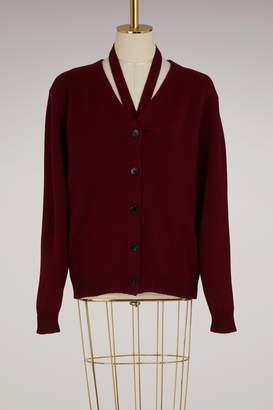 Victoria Beckham Cut-collar cardigan