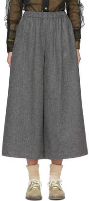 Comme des Garcons Grey Wool Wide-Leg Trousers