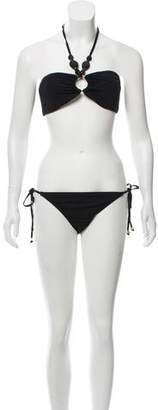 Melissa Odabash Halter Two-Piece Swimsuit w/ Tags