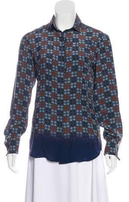 Loro Piana Silk Geometric Top