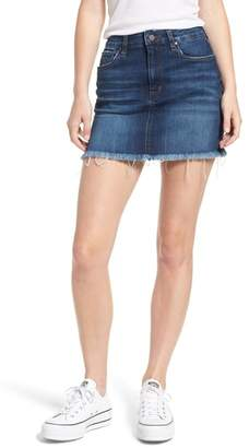 BP Raw Hem Denim Miniskirt