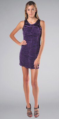 Purple Ruched Dresses by Kitty