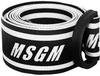 MSGM Logo Webbing Belt