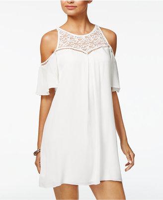 BCX Juniors' Cold-Shoulder Shift Dress $59 thestylecure.com