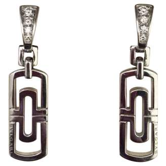 Bulgari Parentesi white gold earrings