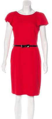 Milly Cap Sleeve Belted Dress