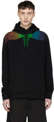 Marcelo Burlon County of Milan Black Rainbow Wing Hoodie