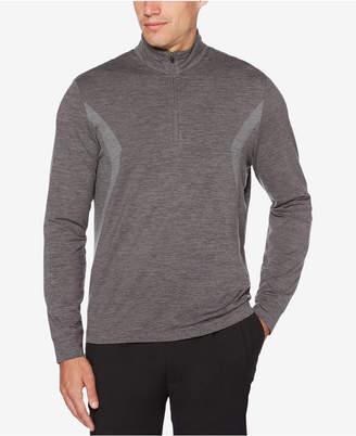 PGA Tour Men's Water Repellent Pigment Print 1/4 Zip Pullover