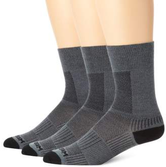 Wrightsock Men's Coolmesh II Crew 3 Pack Socks
