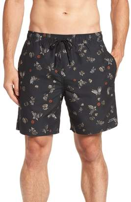 Saturdays NYC Timothy Butterfly Print Swim Trunks