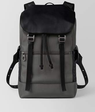 Bottega Veneta Forest Hi-Tech Canvas Sassolungo Backpack