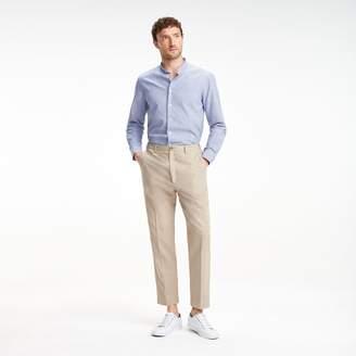 Tommy Hilfiger Cotton Linen Mandarin Collar Dress Shirt