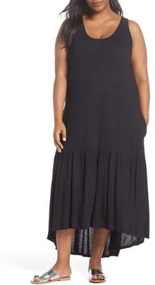 Sejour Sleeveless High/Low Knit Maxi Dress