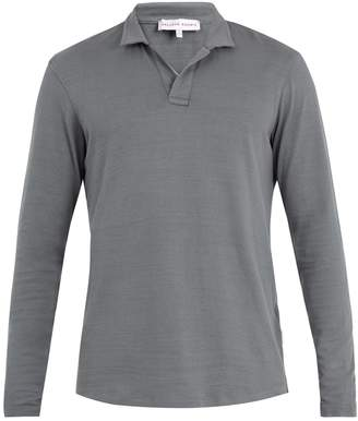 Orlebar Brown Massey long-sleeved cotton polo shirt