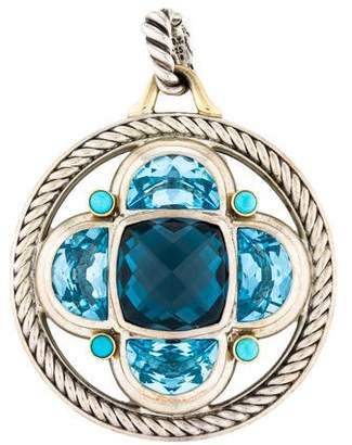 David Yurman Topaz & Turquoise Renaissance Half-Moon Enhancer