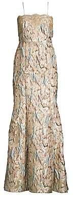 Aidan Mattox Women's Brocade Mermaid Gown