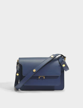 Mini Trunk Bag in Deep Blue Matte Calfskin Marni With Paypal Cheap Price 2018 Newest Sale Newest 4MIwFhbMB