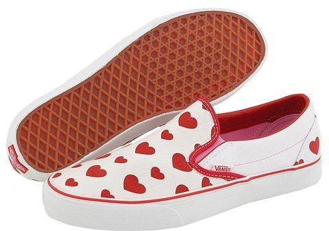 Vans - Classic Slip-On ((Multi Heart) True White/Red)
