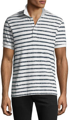 ATM Anthony Thomas Melillo Men's Striped Pique Polo Shirt